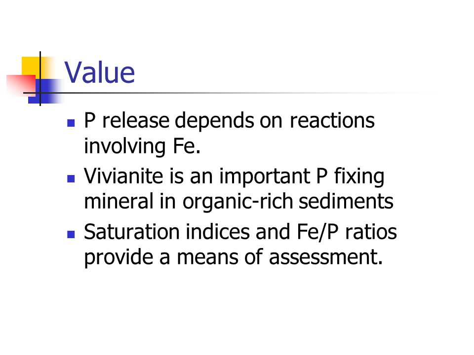 Value P release depends on reactions involving Fe.
