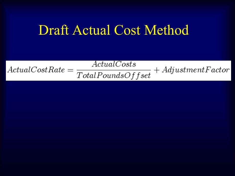 Draft Actual Cost Method