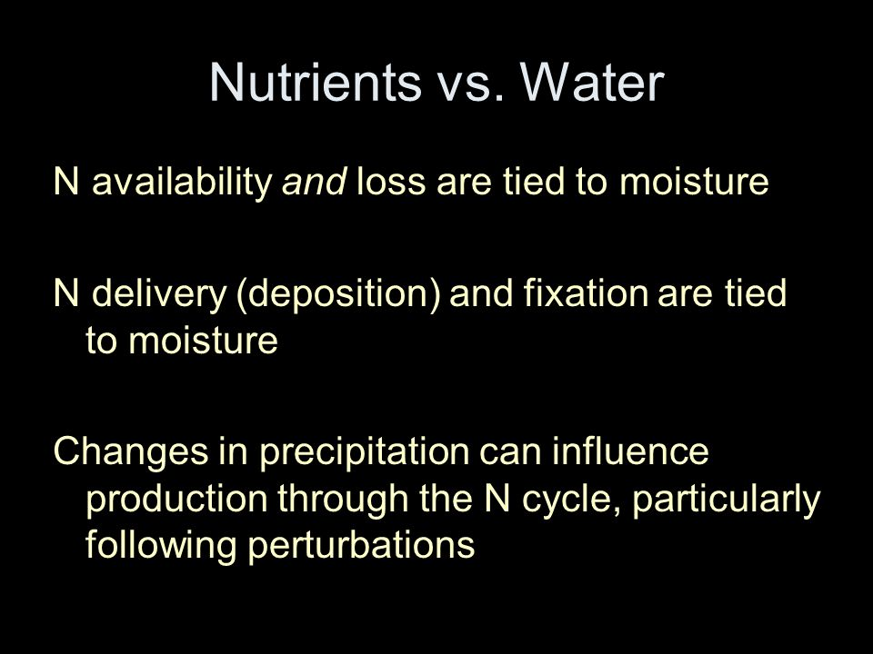 Nutrients vs.