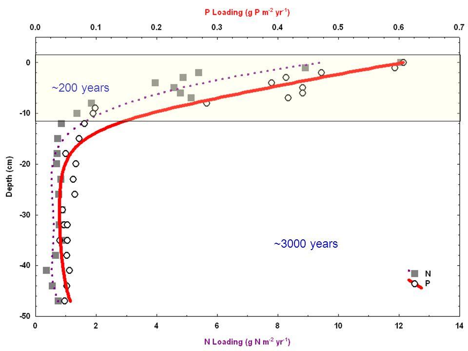 ~200 years ~3000 years