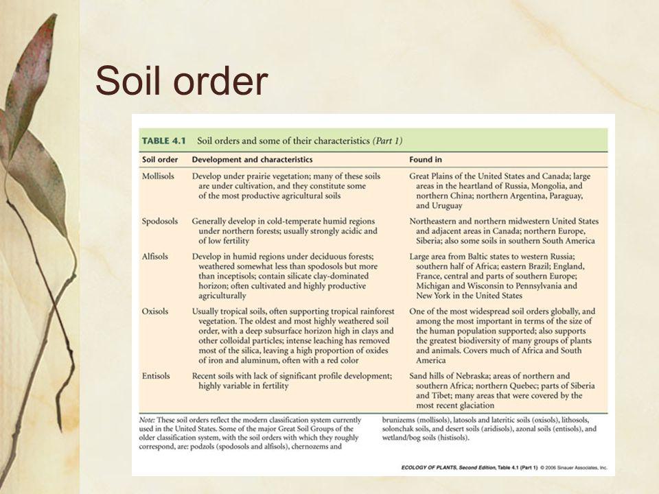 Soil order