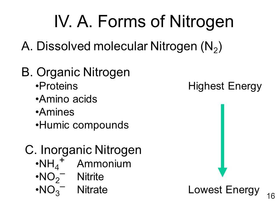 A.Dissolved molecular Nitrogen (N 2 ) B.