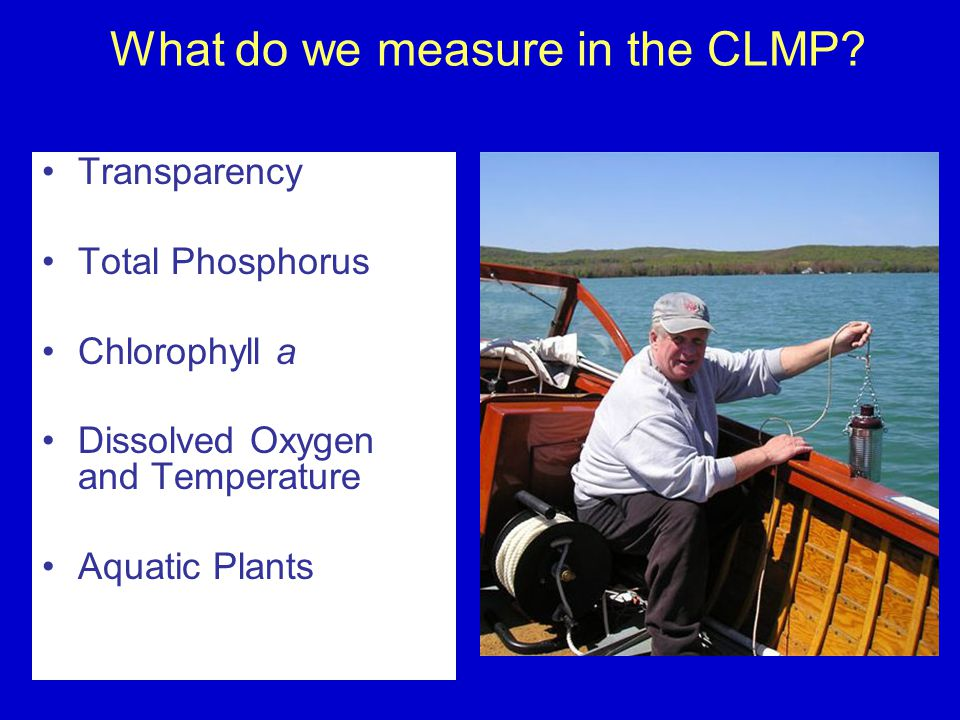 What do we measure in the CLMP.