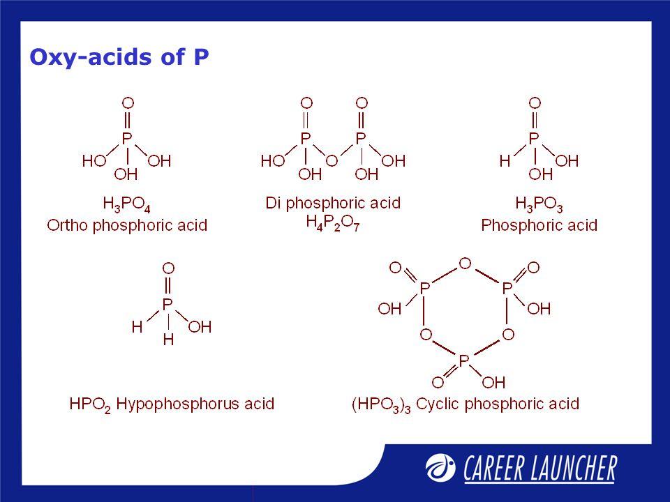 Oxy-acids of P