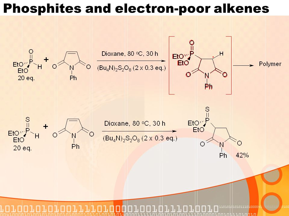 Phosphites and electron-poor alkenes