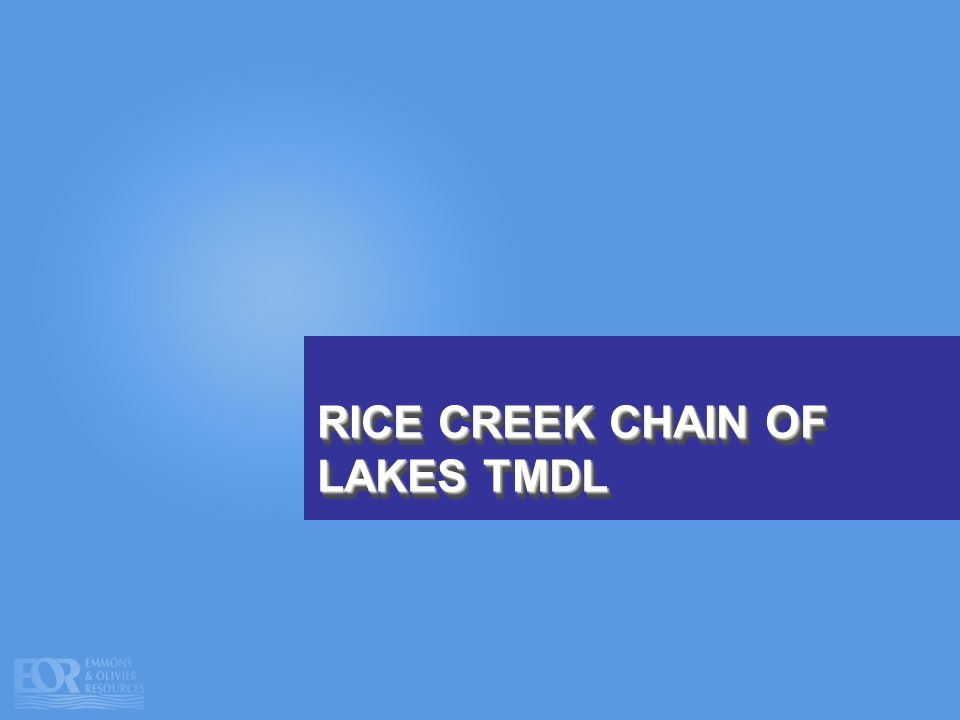 RICE CREEK CHAIN OF LAKES TMDL