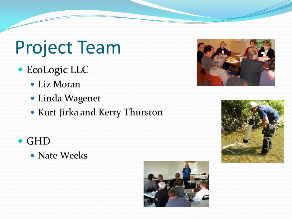 Project Team EcoLogic LLC Liz Moran Linda Wagenet Kurt Jirka and Kerry Thurston GHD Nate Weeks