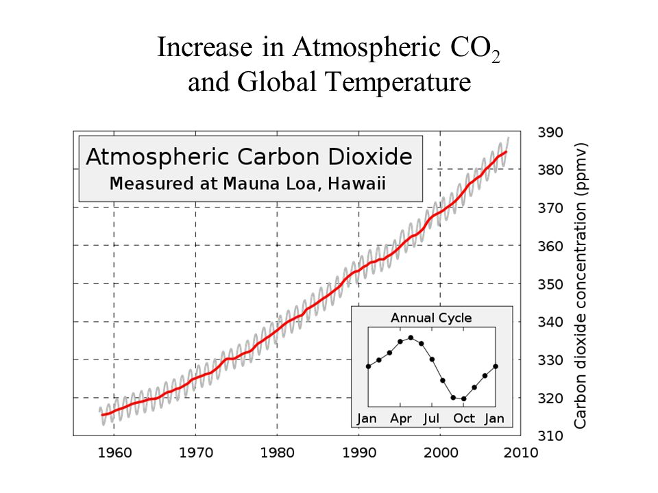 Increase in Atmospheric CO 2 and Global Temperature