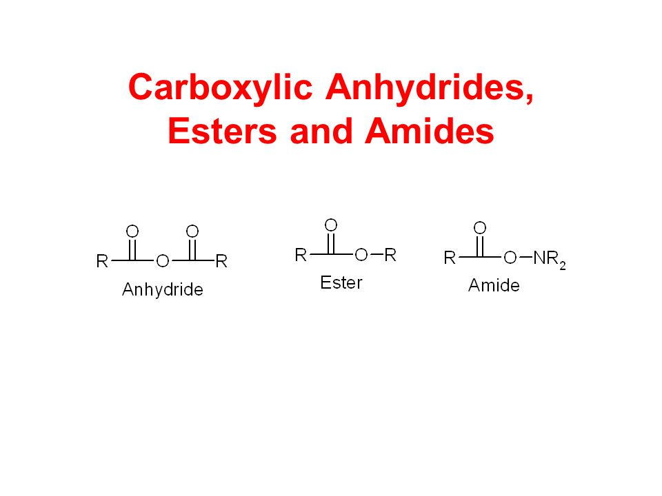 Reaction of Anhydrides with Alcohols EsterAcid