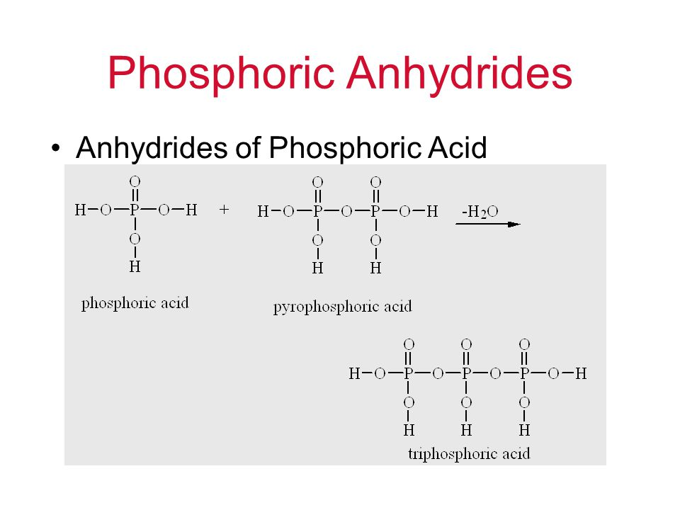 Phosphoric Anhydrides Anhydrides of Phosphoric Acid B