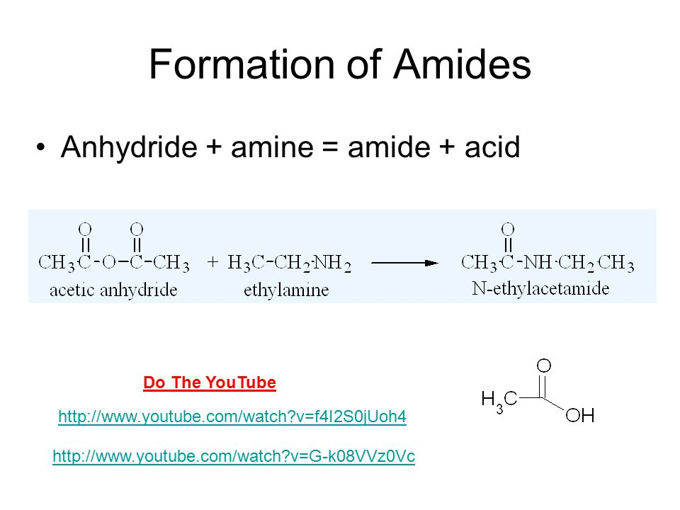 Reactions Hydrolysis of esters with acid Hydrolysis of esters with base (saponification) Reaction of Anhydrides with Alcohol Reaction of Esters with ammonia