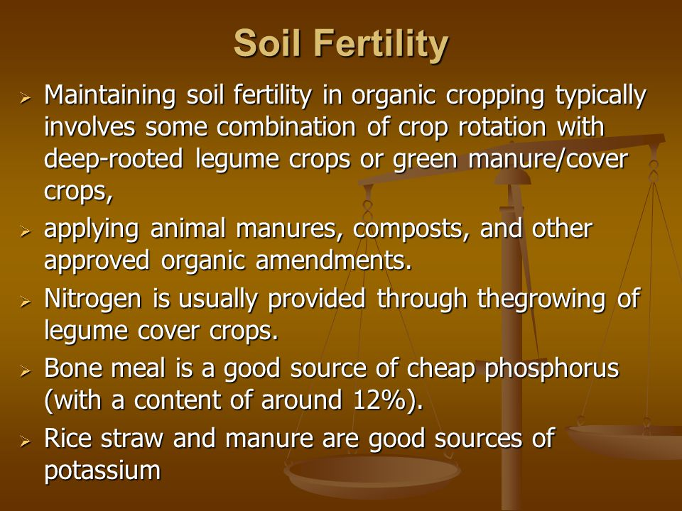 Organic manure  Organic Manures obtained either from cattle or plants.