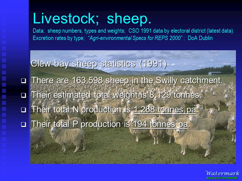 Livestock; cattle Data; cattle numbers, types and weights; CSO 1991 data by electoral district (latest data).