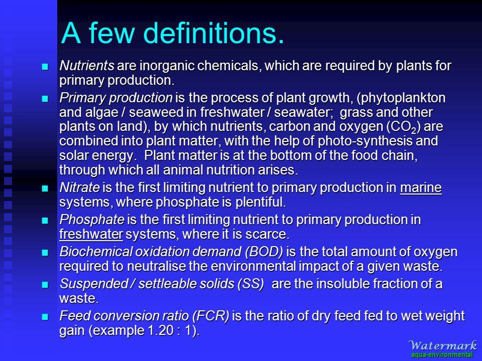 A few definitions.