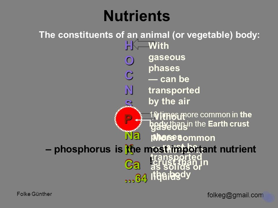 folkeg@gmail.com Folke Günther Interlude: What are 'nutrients' .