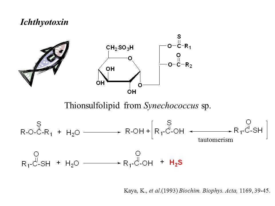 Thionsulfolipid from Synechococcus sp. Ichthyotoxin Kaya, K., et al.(1993) Biochim.
