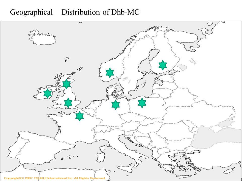 世界地図: http://www.sekaichizu.jp/ Geographical Distribution of Dhb-MC