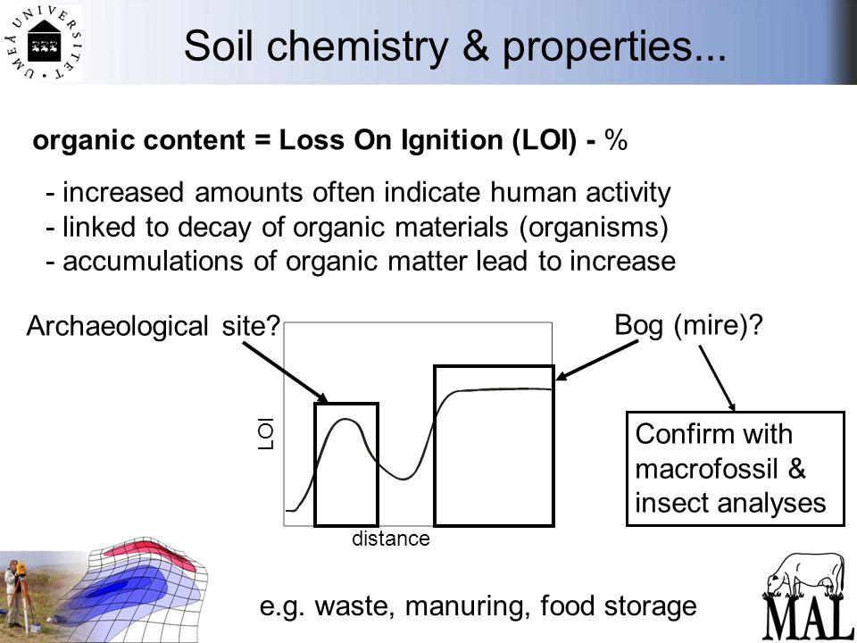 Soil chemistry & properties...