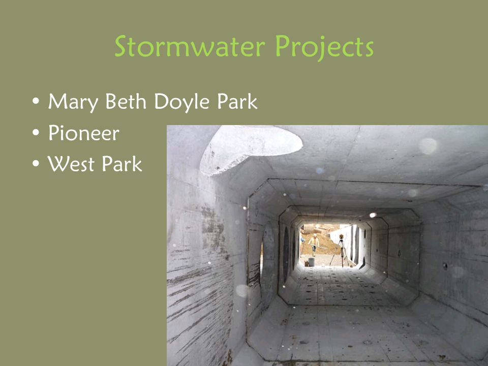 Stormwater Projects Mary Beth Doyle Park Pioneer West Park