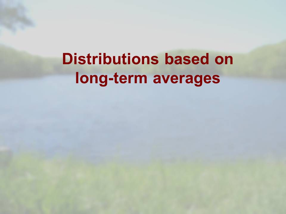 Distributions based on long-term averages