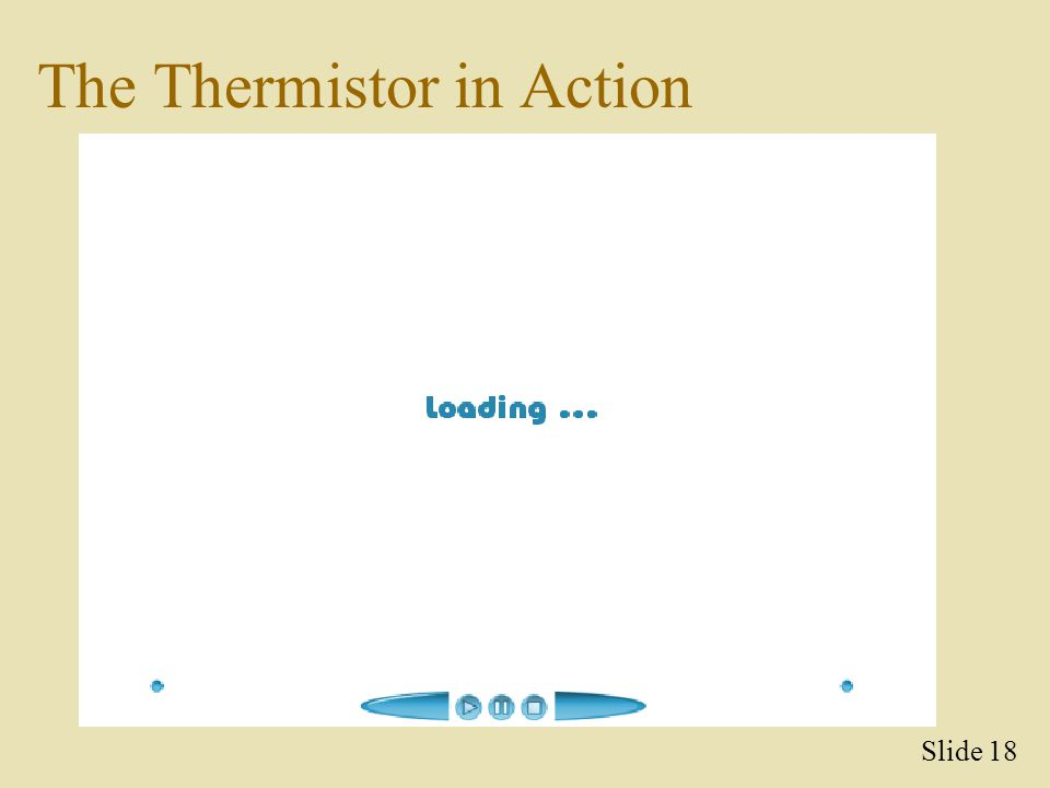The Thermistor in Action Slide 18