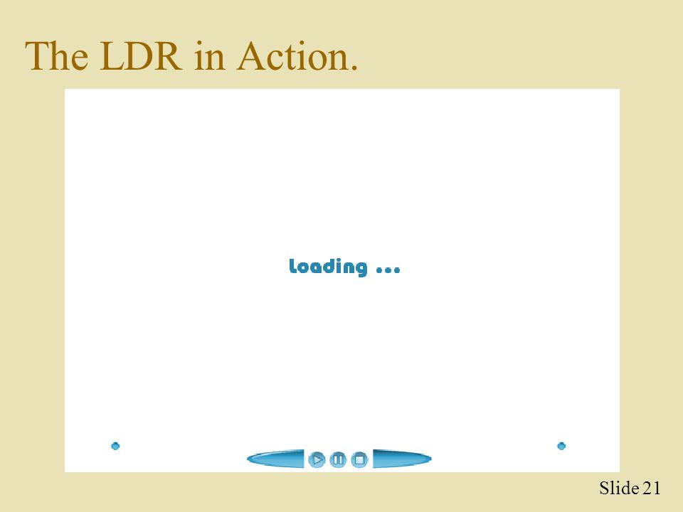 The LDR in Action. Slide 21