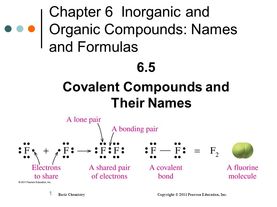 2 Forming a H 2 Molecule Basic Chemistry Copyright © 2011 Pearson Education, Inc.