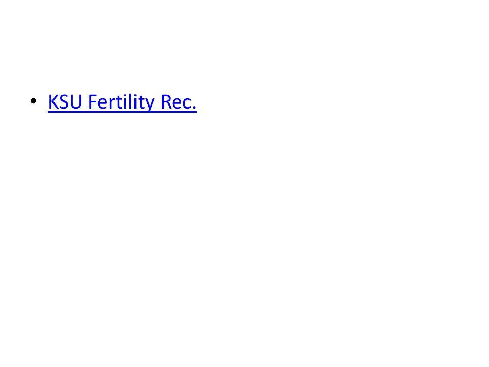 KSU Fertility Rec.