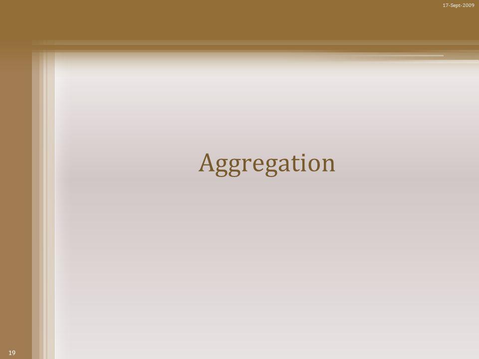 19 17-Sept-2009 Aggregation