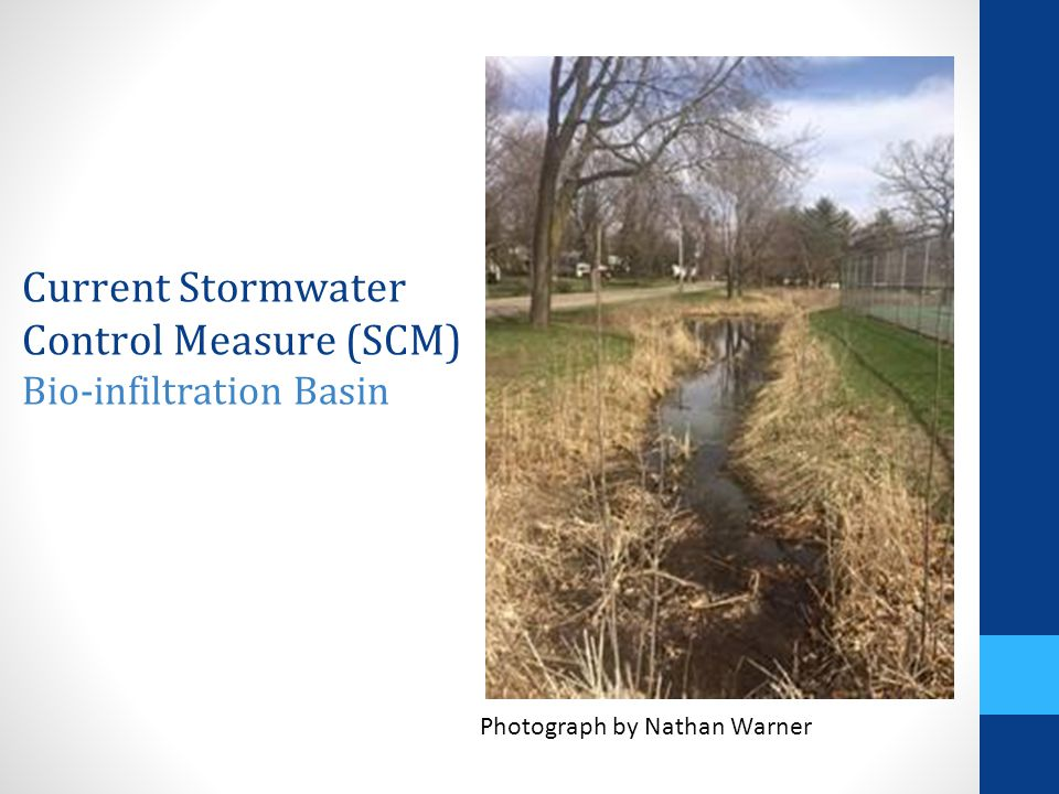 Current Stormwater Control Measure (SCM) Bio-infiltration Basin Photograph by Nathan Warner