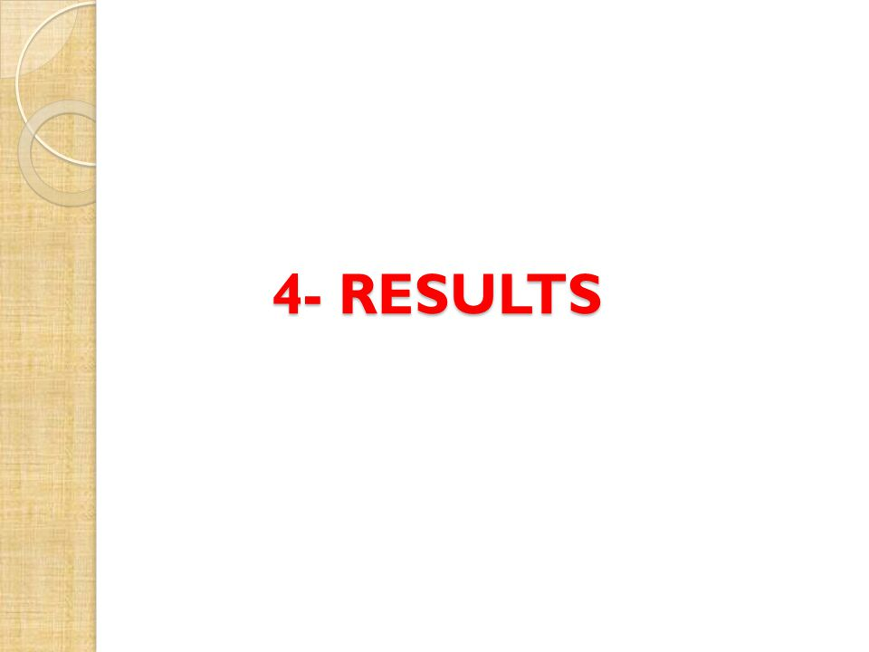 4- RESULTS