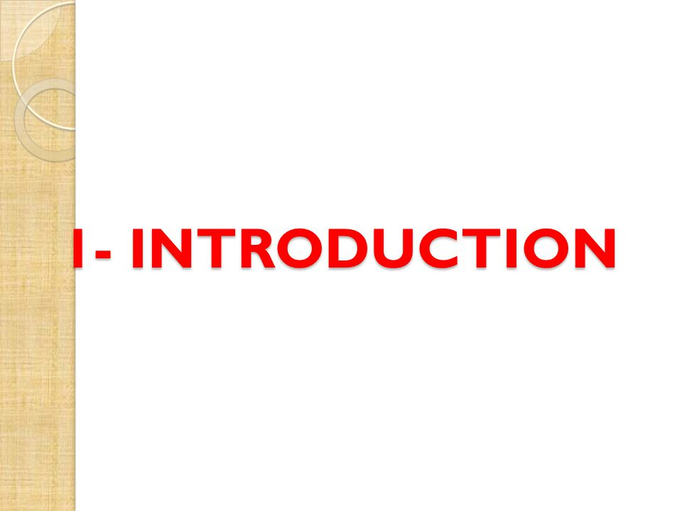 1- INTRODUCTION
