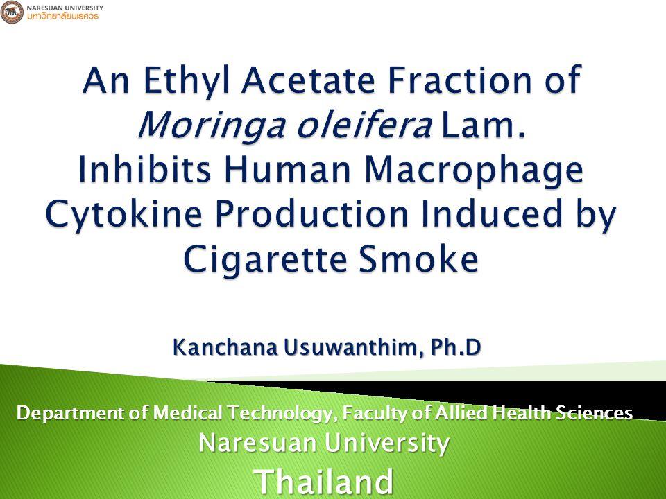 Cytotoxicity Determination Cigarrete Smoke Extract (CSE) Nicotine (NIC) Ethyl Acetate of Moringa Oleifera Lam.