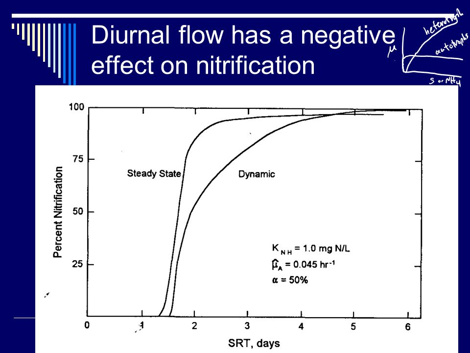 Diurnal flow has a negative effect on nitrification