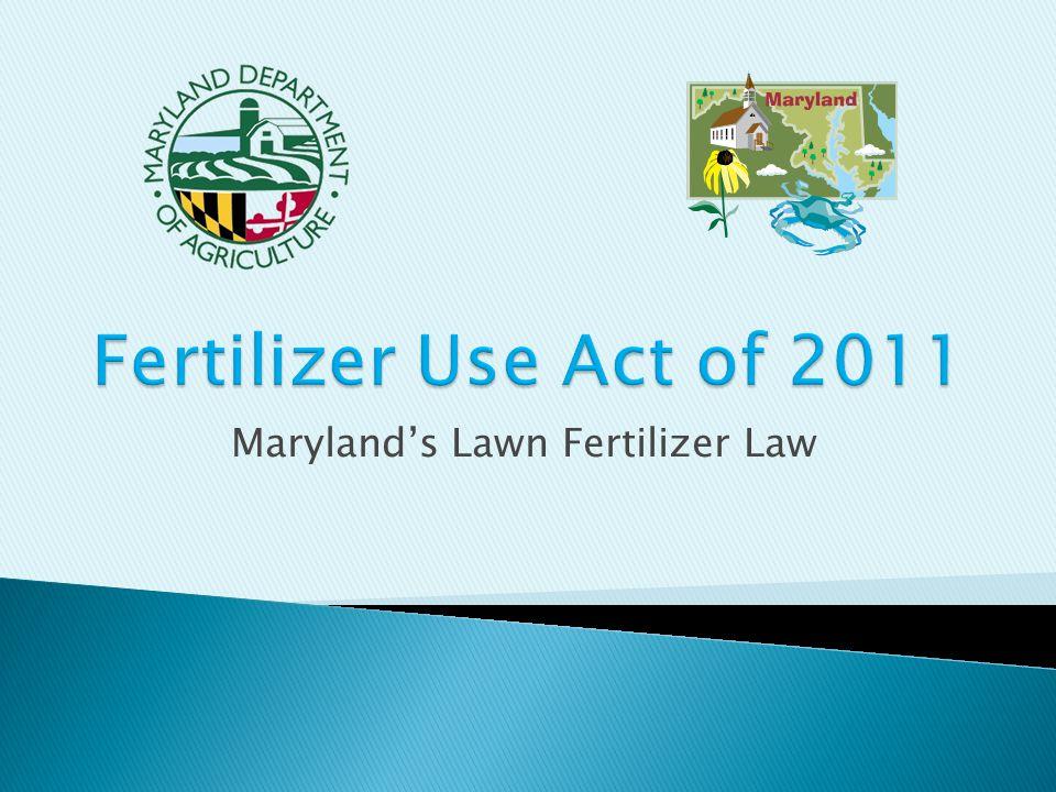 Maryland's Lawn Fertilizer Law