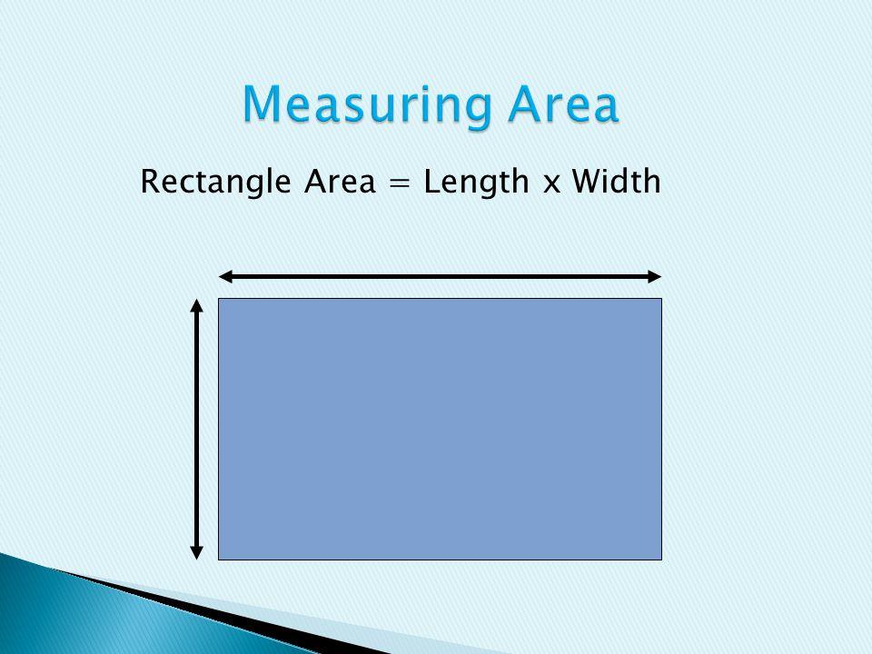 Rectangle Area = Length x Width
