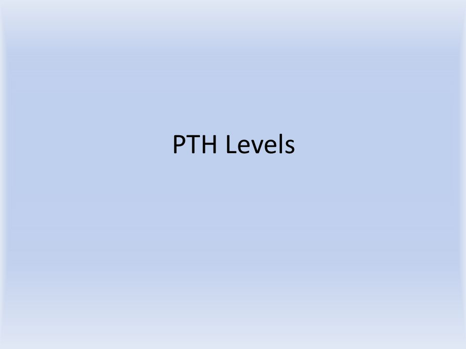 PTH Levels