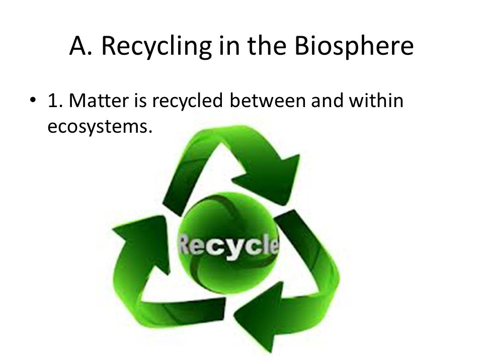 A.Recycling in the Biosphere 2.