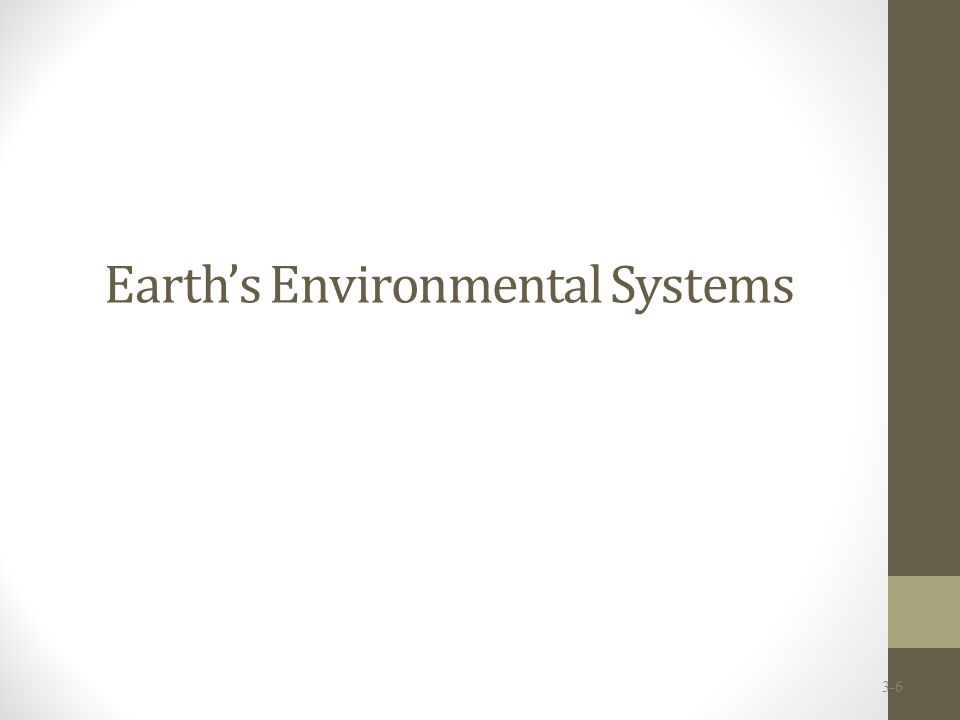 Earth's Environmental Systems 3-6
