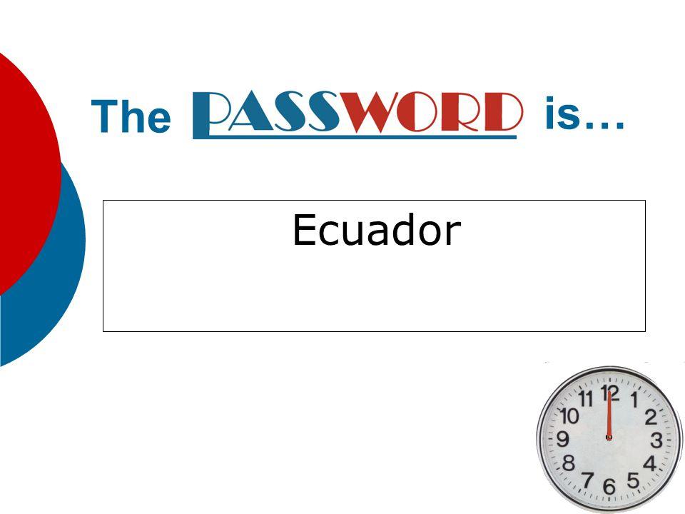 Ecuador The is…