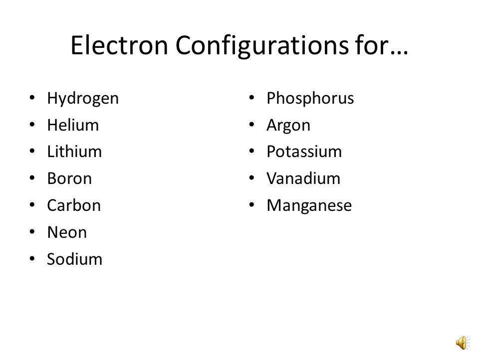 Electron Configuration for Phosphorus 1s 2s 2p 3s3p 1s 2 2s 2 2p 6 3s 2 3p 3