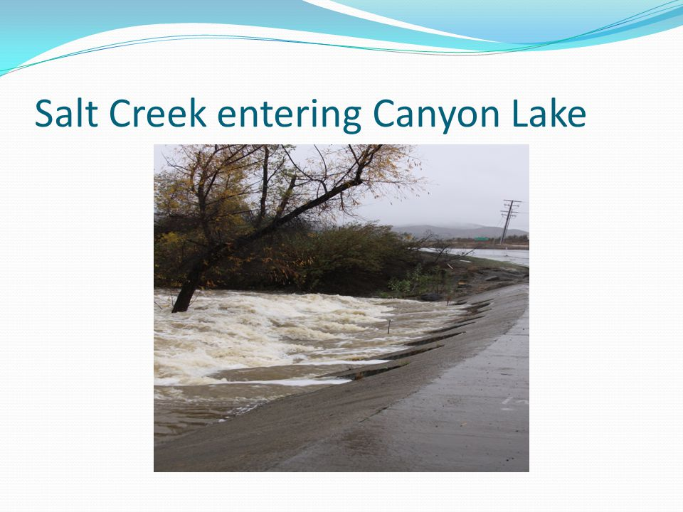 Salt Creek entering Canyon Lake
