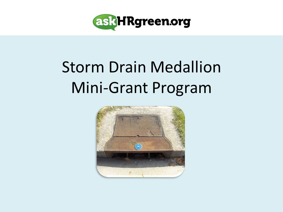 Storm Drain Medallion Mini-Grant Program