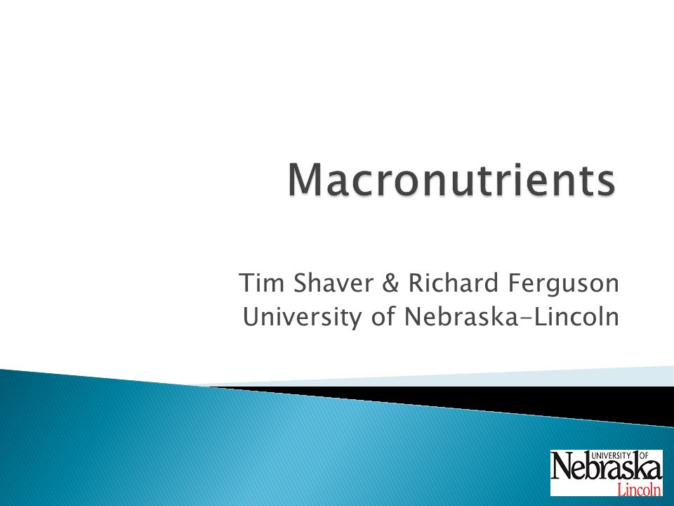 Tim Shaver & Richard Ferguson University of Nebraska-Lincoln
