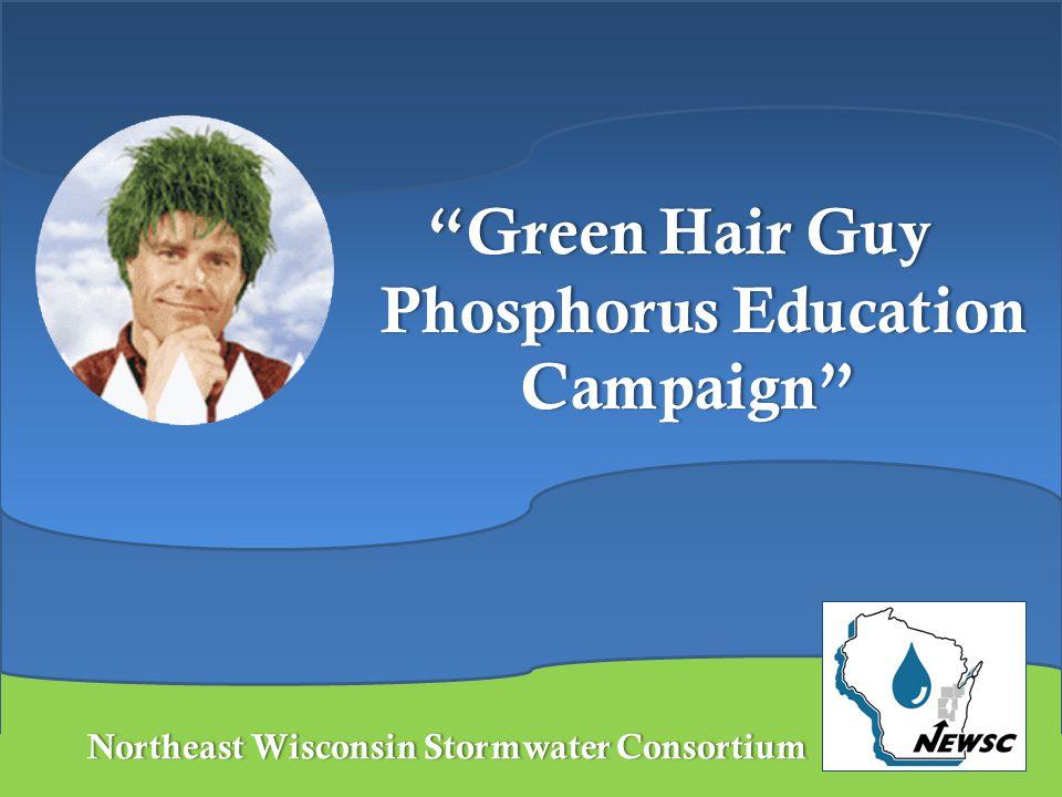 "Northeast Wisconsin Stormwater ConsortiumNortheast Wisconsin Stormwater Consortium ""Green Hair Guy Phosphorus Education Campaign"""