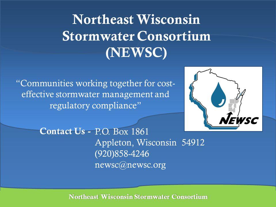 Northeast Wisconsin Stormwater ConsortiumNortheast Wisconsin Stormwater Consortium Northeast Wisconsin Stormwater Consortium (NEWSC) P.O. Box 1861 App