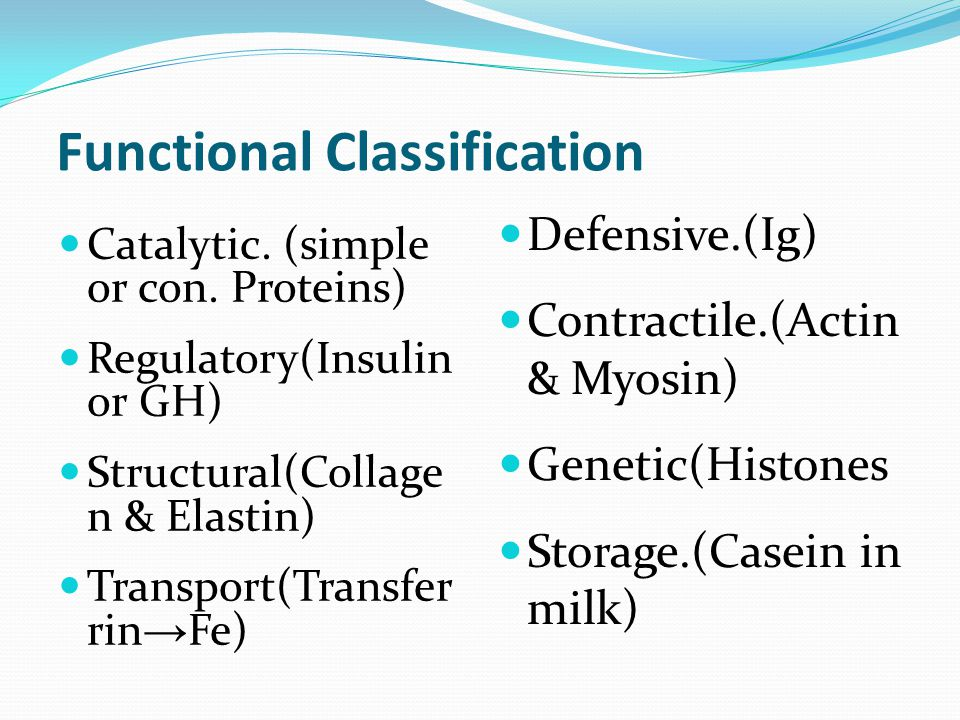 Functional Classification Catalytic. (simple or con.
