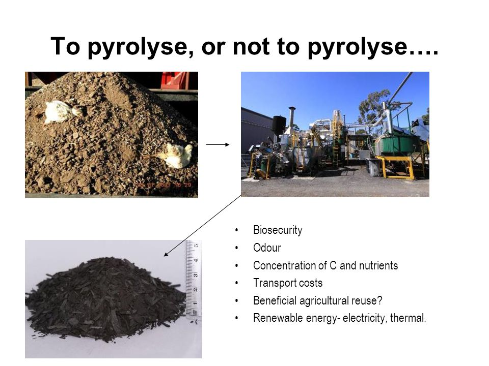 To pyrolyse, or not to pyrolyse….
