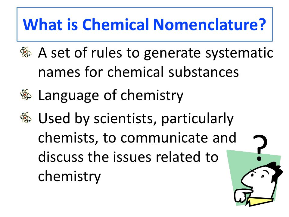 What is Chemical Nomenclature.
