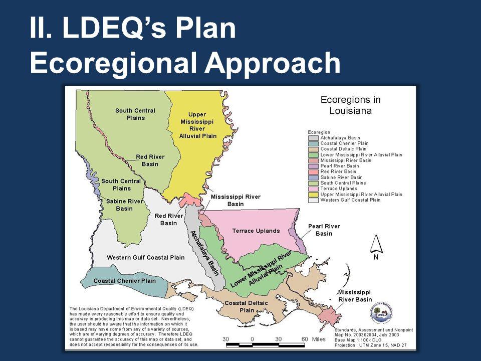 II. LDEQ's Plan Ecoregional Approach